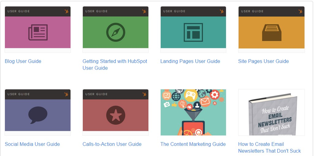 hubspot collection of free guides