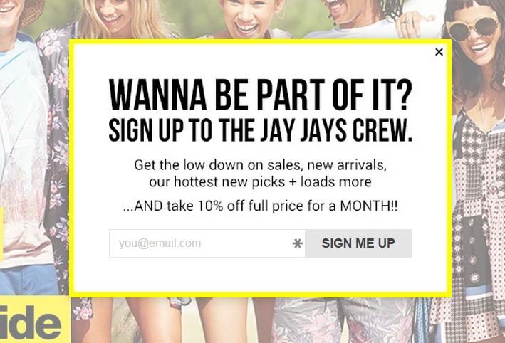 jay jays pop up offer