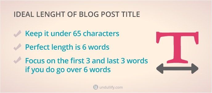 3 tips for optimizing the length of your blog post title
