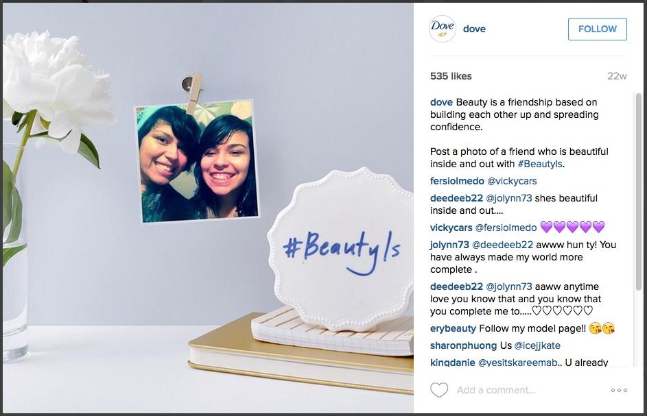 instagram-dove-brandedhashtag