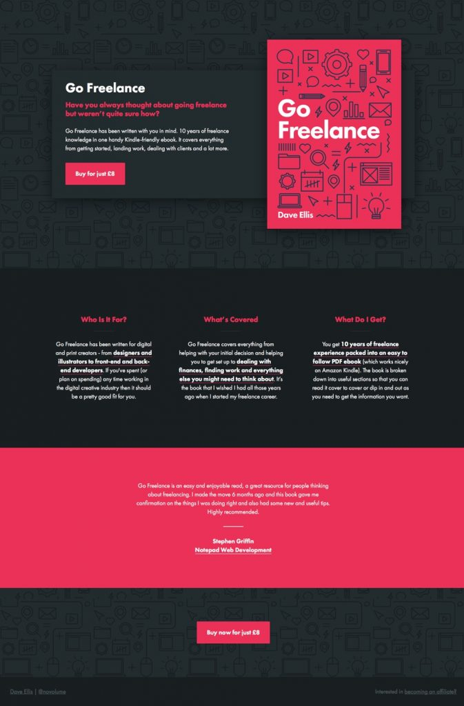 All blog posts archives page 2 of 7 undullify this landing book for the ebook go freelance feels complete even if you never scroll but scroll down anyway and youll find a lot more information fandeluxe Images